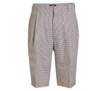 Bermuda-Shorts mit Hahnentritt-Muster