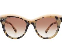 Cat-Eye-Sonnenbrille mit Schildpatt-Muster