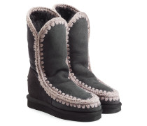 Boots Eskimo Wedge Tall aus Schafleder