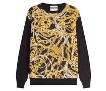 Pullover aus Wolle und Kaschmir mit Print
