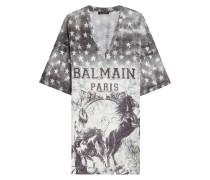 Bedrucktes T-Shirt aus Leinen