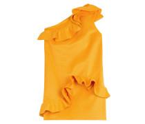One-Shoulder-Dress mit Baumwolle und Rüschen