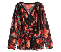 Tunika-Bluse aus Seide mit Print