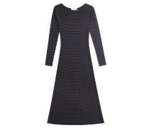 Gestreiftes Kleid mit Metallic-Fasern
