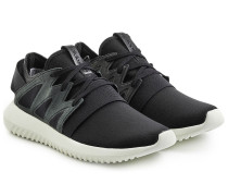 Sneakers Tubular Viral mit Leder