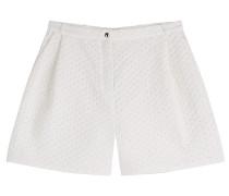 Shorts mit Lochstickerei