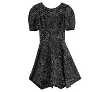 Flared-Dress aus Woll-Jersey mit Animal-Muster