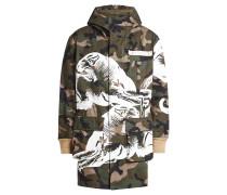 Bedruckter Camouflage-Parka