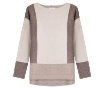 Pullover mit Intarsien-Strick im Colorblock-Stil