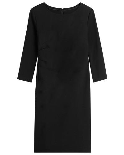 Kleid mit seitlicher Raffung