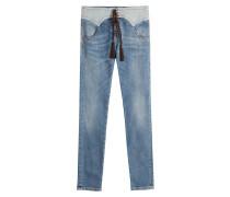 Geschnürte Jeans im Western-Stil