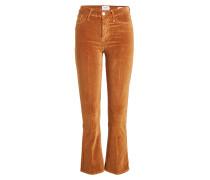 Cropped Flared Pants Le Velveteen aus Samt