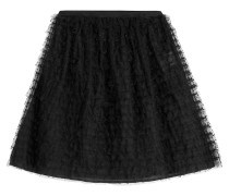 Flared-Skirt mit Mesh-Overlay