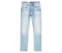Slim Jeans mit hellblauer Waschung