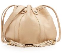 Bucket-Bag aus Leder mit Quasten