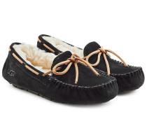 Black Suede Dakota Moccasins
