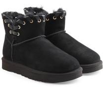 Boots Aidah Mini aus Veloursleder mit Wolle