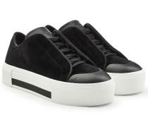 Plateau-Sneakers aus Samt