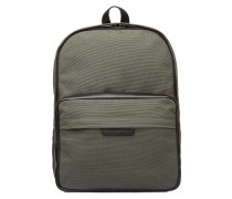 Backpack aus Baumwolle mit Leder