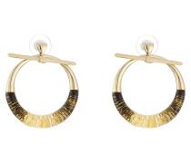 Ohrringe aus Metall und Glas