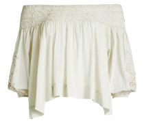 Besticktes Off Shoulder Top aus Baumwolle