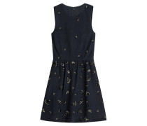 Kleid mit Wolle und Décor
