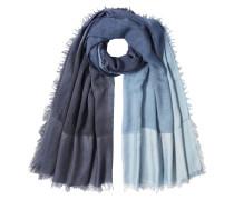 Fransen-Schal aus Schurwolle und Seide