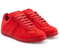 Sneakers Replica aus gefilztem Kalbsfell