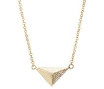 Halskette Pyramid aus 18kt Gelbgold mit weißen Diamanten