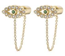 Ohrringe aus 18K Gelbgold mit Diamanten