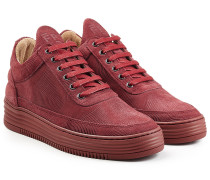 Sneakers Monotone Stripe aus Veloursleder