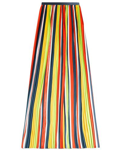 Plissierter Maxi-Skirt aus Seide