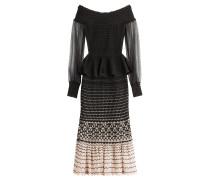 Off-Shoulder-Kleid mit Seide