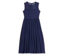 Midi-Dress mit transparenten Streifen