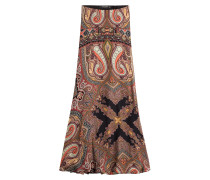 Maxi-Skirt aus Seide mit Paisley-Muster