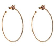 Creolen aus 18kt Roségold mit weißen Diamanten und pinkfarbenen Saphiren