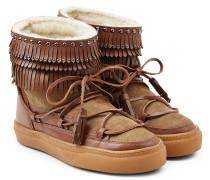 Stiefel Ikkii aus Veloursleder und Fell