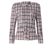 Kragenlose Blazer-Jacke aus Tweed