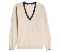 V-Pullover aus Kaschmir, Wolle und Seide
