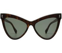 Cat-Eye-Sonnenbrille mit Schildpattmuster
