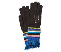 Handschuhe aus Wolle mit Fransen