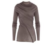 Drapiertes Langarmshirt aus Baumwolle