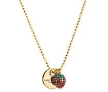 Halskette mit Erdbeeranhänger