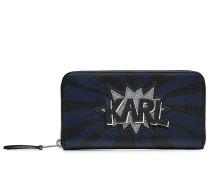 Portemonnaie K/Pop mit Glitter-Applikation