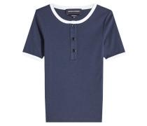 T-Shirt Francesca aus Baumwolle mit Knöpfen