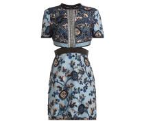 Besticktes Kleid mit Cut-Outs
