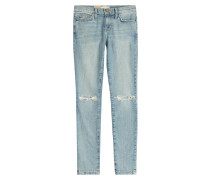 Distressed Skinny Jeans aus Baumwoll-Stretch