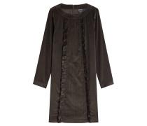 Kleid aus Cord mit Rüschen