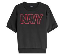 Besticktes Sweatshirt mit kurzen Ärmeln