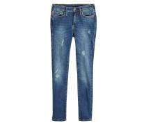 Mid Rise Skinny Jeans im Used Look